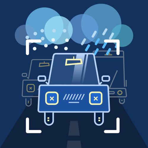 雨雪天气车辆检测分割